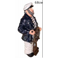 Капитан с штурвалом 68см