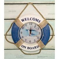 Часы  Спасательный круг  Оригинальные 35см синие