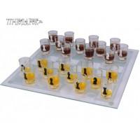 Пьяные Шахматы 25х25 см стекло