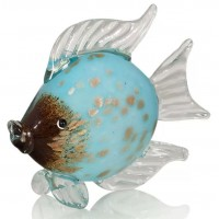 Рыбка. Стеклянная фигурка в стиле Мурано. 23 см A