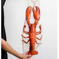 Лобстер с сеткой BIG LOBSTER, морской декор
