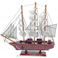 Декоративная модель корабля, дерево 31см VIC