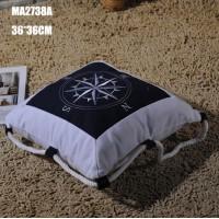 Декоративная подушка Роза Ветров 36 см, Blue