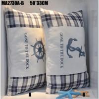 Комплект подушек (2шт) Штурвал и Якорь, 50х33 см