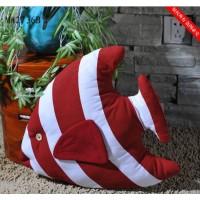 Декоративная подушка Рыбка  44 см RED