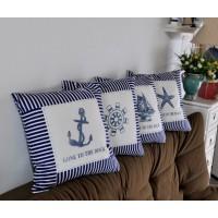 Комплект подушек (4шт) Морская романтика, 40 см