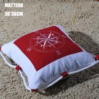 Декоративная подушка Роза Ветров 36 см, Red