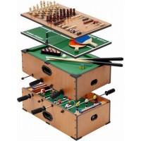 Набор настольных игр 5 в 1: футбол бильярд,теннис,шахматы,нарды