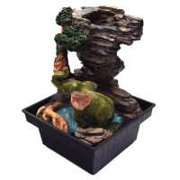 настольный мини Фонтан  Слоник, высота 16 см