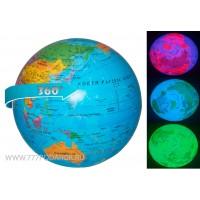 Вращающийся глобус настольный, LED подсветка  Географическая карта мира