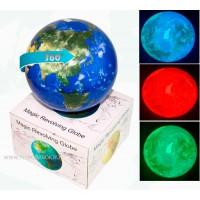 Магический вращающийся глобус настольный с подсветкой,  Материки и Океаны