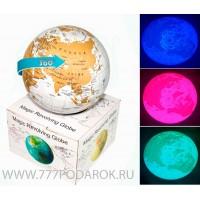 Глобус вращающийся, подсветка, 14см Политическая карта