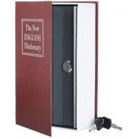 Книга сейф с ключами 18см The new english dictionary Bordo