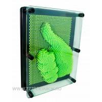Пин арт, гвоздики - скульптор 3D  Зеленый