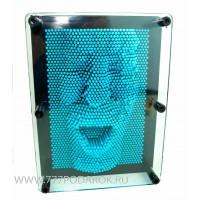 Пин арт, гвоздики - скульптор 3D  Синий