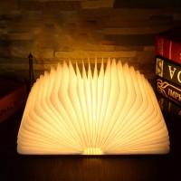 Светильник Книга, 11см, деревянная обложка, теплый свет