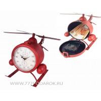 Вертолет с часами и тайником, металл