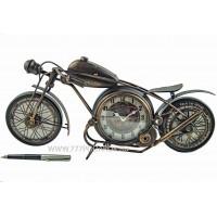Мотоцикл с часами, 43 см, металл