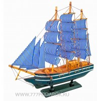 Декоративная модель корабля, дерево 31см D