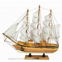 Декоративная модель корабля, дерево 31см B