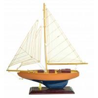 Модель яхты из дерева, 34 см