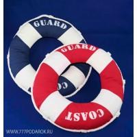 Комплект декоративных подушек -спасательный круг 40 см, 2шт синий, красный цвет
