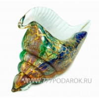 Морская раковина. Стеклянная фигурка в стиле Мурано. Высота 26 см Mureno