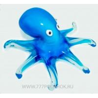 Осьминог. Стеклянная фигурка в стиле Мурано. 17х17 см Blue