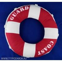 Декоративная подушка-спасательный круг 40 см, красный цвет