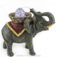 Фонтан Слон,  высота 28 см, подсветка