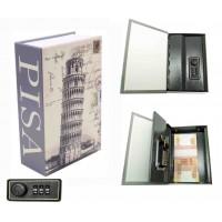 Книга сейф с кодовым замком Пизанская башня| 18см