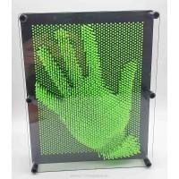 Пин арт, гвоздики - скульптор 3D ГИГАНТ  Зеленый