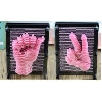 Пин арт, гвоздики - скульптор 3D  Розовый