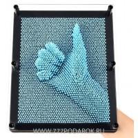 Пин арт, гвоздики - скульптор 3D ГИГАНТ  Голубой