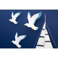 морские Птицы (комплект 3шт) настенный декор