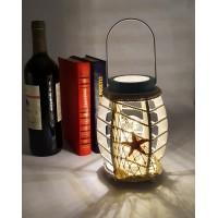 Лампа-Фонарь в морском стиле 30 см,  дерево, LED подсветка