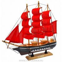"""корабль  """"Алые паруса""""   дерево 31см"""