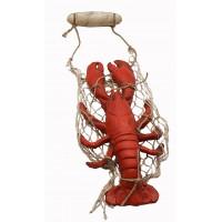 Лобстер с сеткой, морской декор
