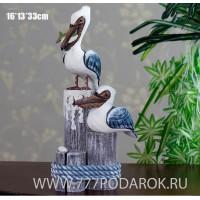 Декоративные Пеликаны,  морской декор  33см B