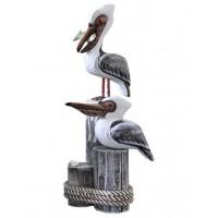 Декоративные Пеликаны,  морской декор  33см Grey