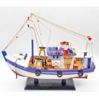 Рыболовецкое судно, дерево, 40см C