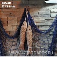 Декоративные деревянные рыбы 28 см (комплект 2шт) Nature