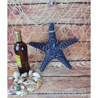Декоративная Морская звезда  31 см, синяя