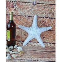 Декоративная Морская звезда  31 см, белая