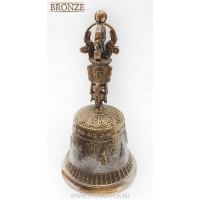 буддийский колокольчик, 18см, бронза