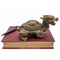Драконо-черепаха 19см  бронза