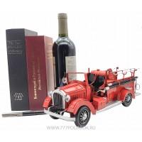 Ретро модель пожарной машины 34см, металл