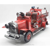Пожарная машина, ретро-модель  40 см, металл