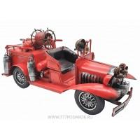 Пожарная машина, ретро-модель 39 см, металл
