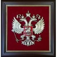 """Панно настенное """"Герб России"""" в раме 43х46см"""